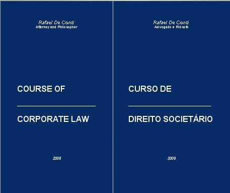 Course of Corporate Law - Curso de Direito Societário